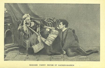Fanny Pistor (in furs, with whip) and Sacher-Masoch (1870-80)