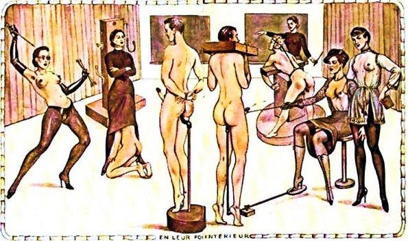 """En leur for intérieur"" by Bernard de Montorgueuil (an example of exhibitionism & voyeurism)"